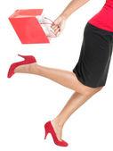 Frau einkaufen gehen — Stockfoto