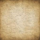 Formel på gamla papper — Stockfoto