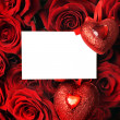 Heart, white sheet, congratulation — Foto Stock