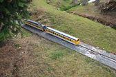σιδηρόδρομοι σε μικρογραφία — Φωτογραφία Αρχείου