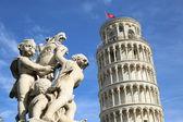 Panorama Tower of Pisa — Stock Photo