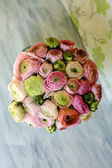 Wedding bouquet with Ranunculus — Stock Photo