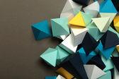 Geometric origami background — Stock Photo