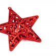 Red star for christmas — Stock Photo
