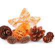 Christmas decoration in bright orange — Stock Photo #34731739