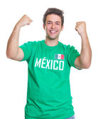 Happy mexican sports fan — Stock Photo