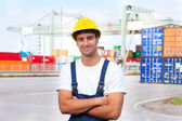 Friendly docker at work — Stock Photo