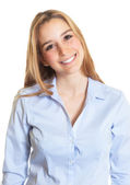 Portrait of a female secretary with blond hair — Stock Photo