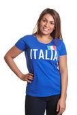 Chica italiana de pie — Foto de Stock