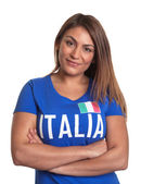 Italian girl with crossed arms — Stock Photo