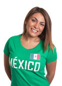 Laughing mexican girl — Stock Photo