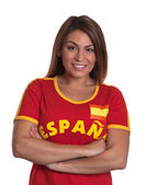 Spanish girl with crossed arms — Stock Photo