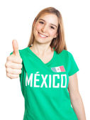 Mexican woman showing thumb up — Stock Photo