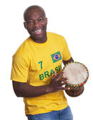 Laughing guy from Brazil loves samba — Stock Photo