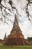 Stupa of Wat Chai Watthanaram in Ayutthaya, Thailand. — Stock Photo