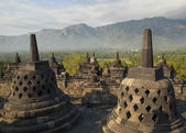 Ancient Pagoda at Borobudur Temple, Yogyakarta, Indonesia — Stock Photo