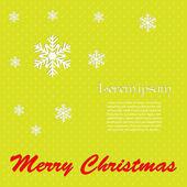 Kerstmis achtergrond, lichtgroen met sneeuwvlokken — Stockvector