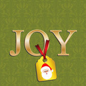 Christmas cards with Olive damask and gold joy — Διανυσματικό Αρχείο