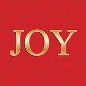 圣诞贺卡与红色锦缎和金的喜悦 — 图库矢量图片