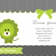 Baby shower card,green lion and White background — Stock Vector #36853949
