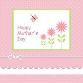 Moederdag card.with roze achtergrond — Wektor stockowy