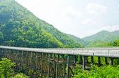 Bridge of road on the mountain. — Stock Photo
