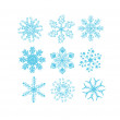Set of Snowflake for background — Stock Photo #36020267