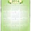 Simple 2014 Calendar vector — Stock Vector