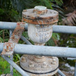 Old rusty pipeline — Stock Photo