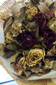 Close up dry rose bouquet — Stock Photo
