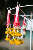 Yellow garland festoon Thailand — Stock Photo