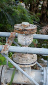 Old rusty pipeline — Stockfoto