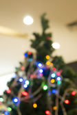 Christmas tree out of focus — Stock Photo