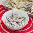 Grill Mackerel fish meat — Stock Photo