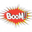 Boom Comic book explosion. comic sound effect — Stock Vector