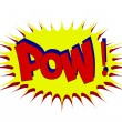 POW Comic book explosion comic sound effect — Stock Vector