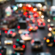 Abstract Blur traffic and car lights bokeh in rush hour background — Stock Photo #38683149