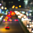 Abstract Blur traffic and car lights bokeh in rush hour background — Stock Photo #38684605
