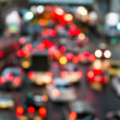 Abstract Blur traffic and car lights bokeh in rush hour background — Stock Photo