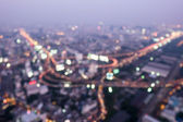 Abstract Bokeh of city nightscape — Stock Photo