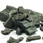 Coal isolated on white background — Stock Photo