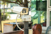CCTV Camera in front of the village, residence — Stock Photo