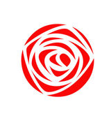 Red rose icon vector — Stock Vector