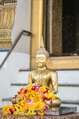 Golden buddha at Wat Suthat Thepphawararam is a royal temple in Bangkok,Thailand — Stock Photo