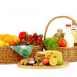 Basket with food — Stock Photo
