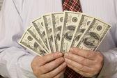 Wentylator dolarów — Zdjęcie stockowe