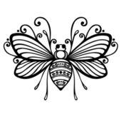 Krásná včelka — Stock vektor