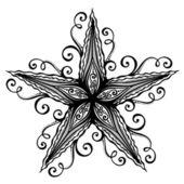 Soyut deniz deniz yıldızı — Stok Vektör