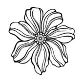 Decorative Flower — Vector de stock