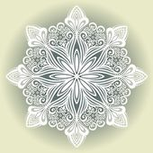 Copo de nieve decorativo hermoso — Vector de stock